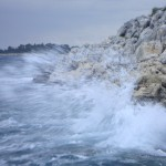 Rovinj shore line